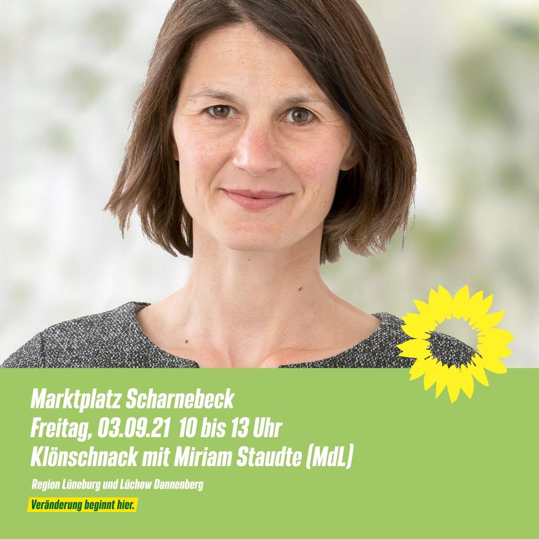 Miriam Staudte auf Scharnebeck Marktplatz