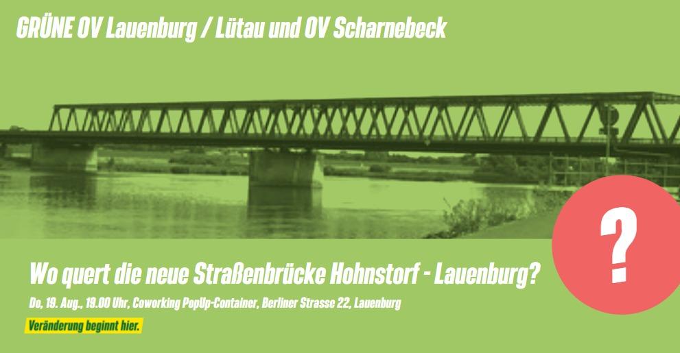Wo quert die neue Straßenbrücke Hohnstorf – Lauenburg?